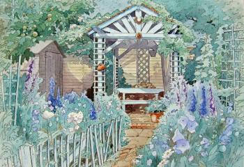 A Quiet Spot - Pen & Watercolour - 25cm x 35cm