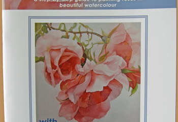 My book on painting roses (front cover)